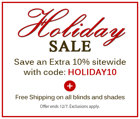 Holiday Sale!  Save an extra 10% off sitewide + free shipping. Ends Dec 7.