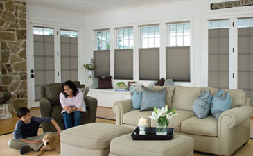 Living room blinds shades - Living room window treatments for large windows ...